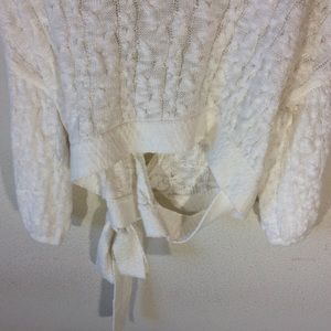 Anthropologie Sweaters - Anthropologie Moth Soft White Cropped Slouch Cardi